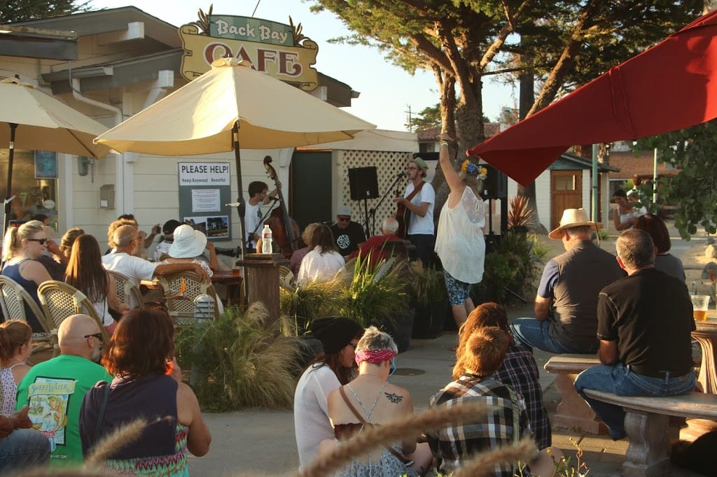 Monday night concert series at Back Bay Cafe