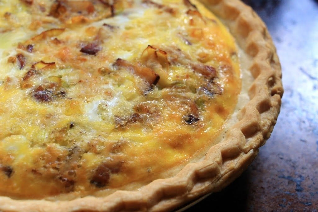Bacon Leek Quiche from On the Beach Bed & Breakfast