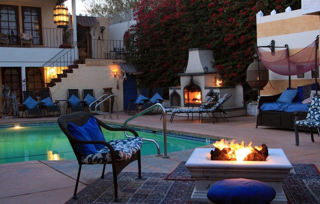 Courtyard pool at El Morocco Inn & Spa