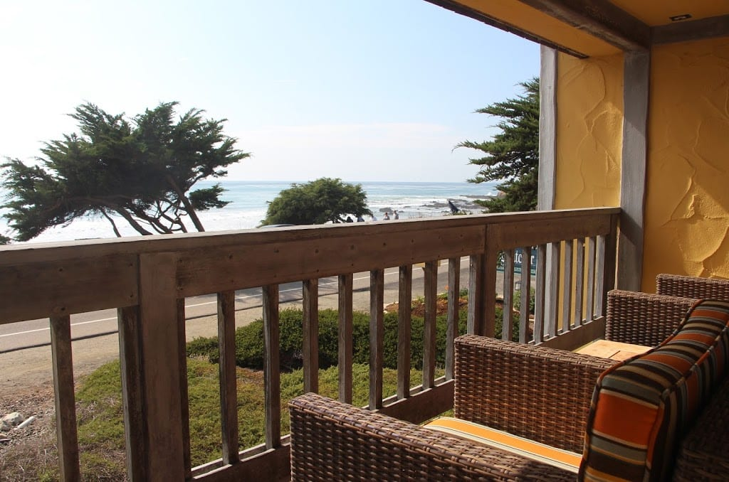 View from one of the ocean view king rooms at FogCatcher Inn
