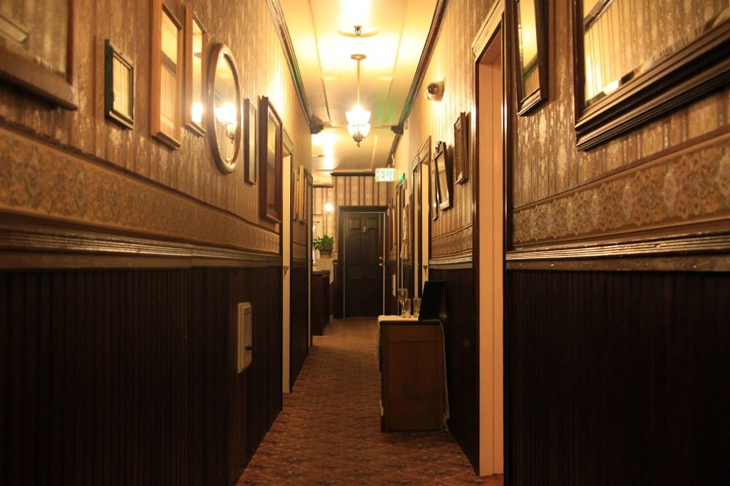The second floor hallway of the hotel