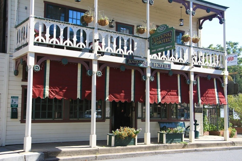 1859 Historic National Hotel in the Gold-Rush town of Jamestown, California