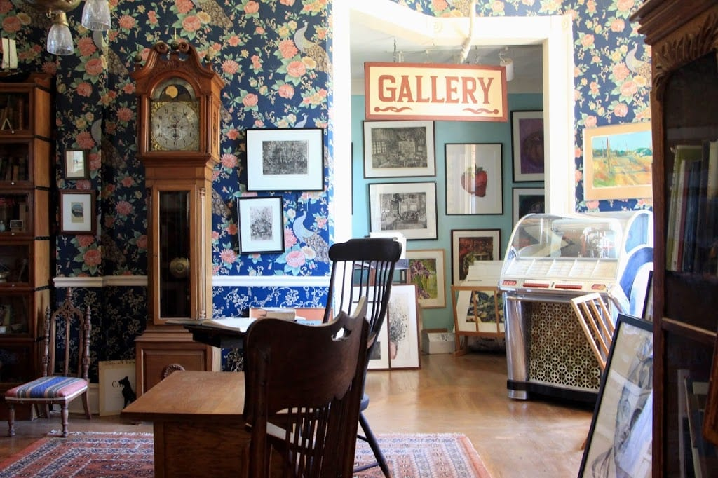 Parlor and gallery of the Swan Levine House