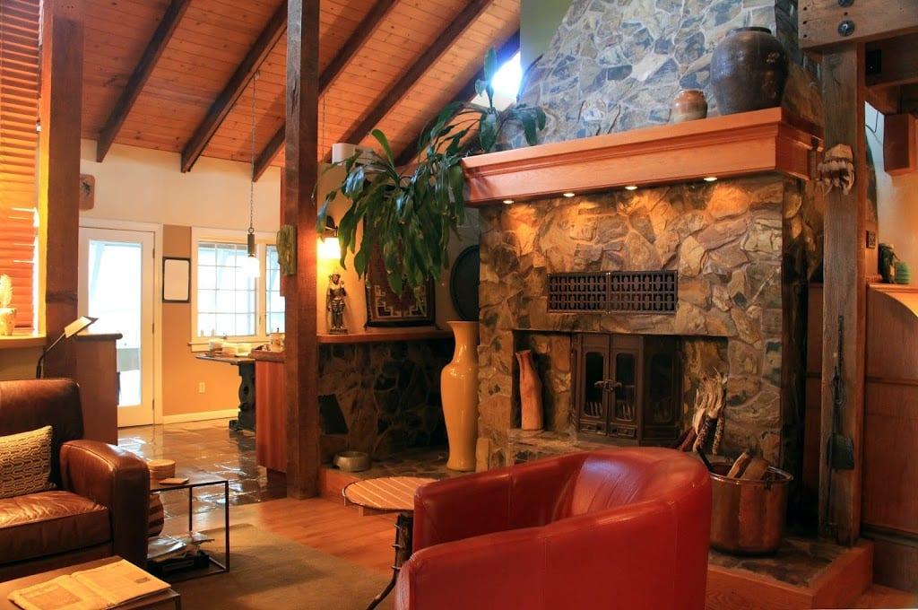Fireplace at Eden Vale Inn