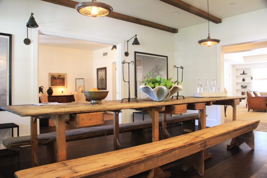 Newly-redesigned dining room at the Ballard Inn