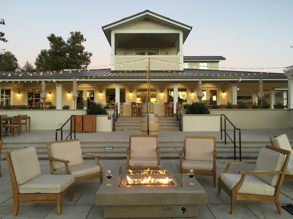 Tasting room patio at JUSTIN Winery