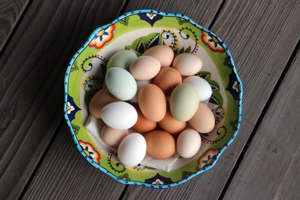 Fresh eggs from the inn's brood of hens