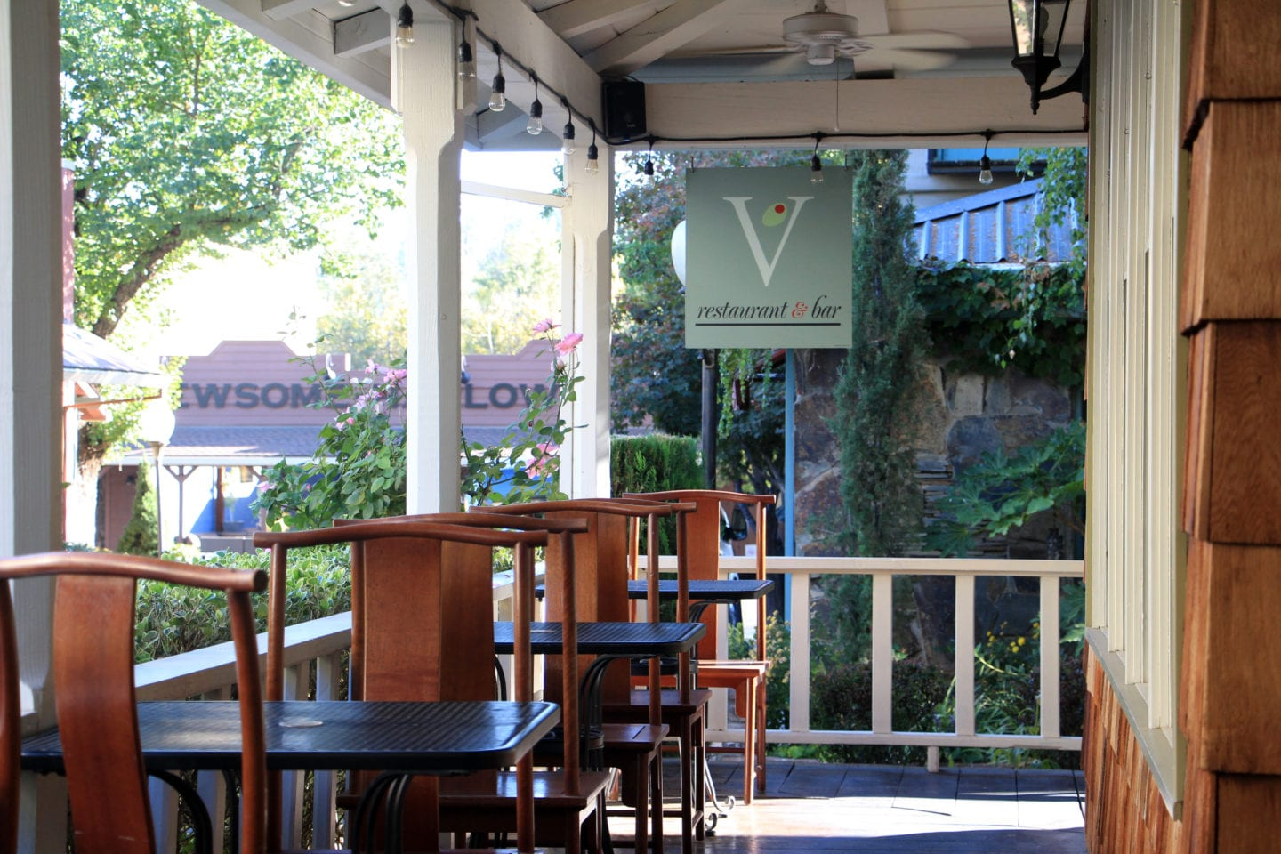 Porch of The Victoria Inn