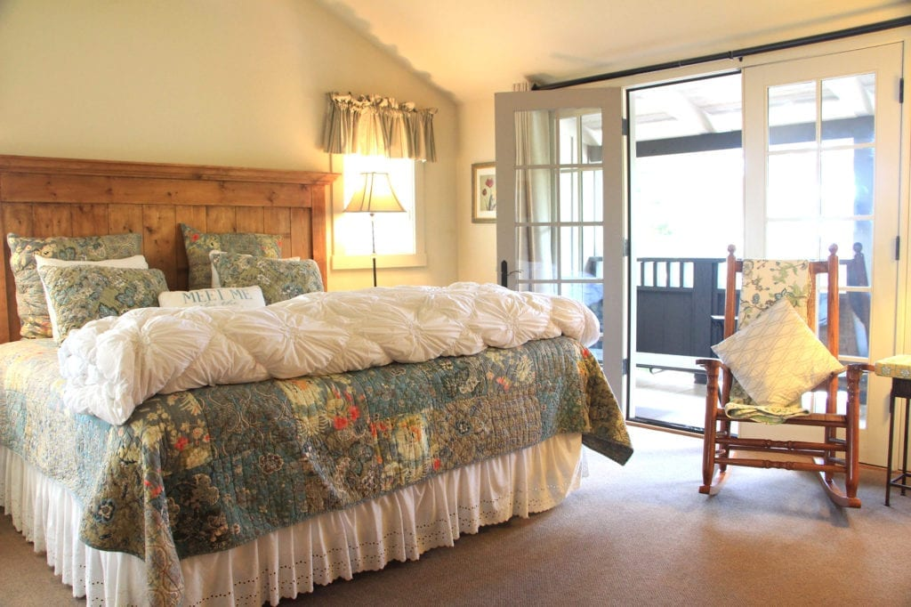 Guest room at Carmel Country Inn
