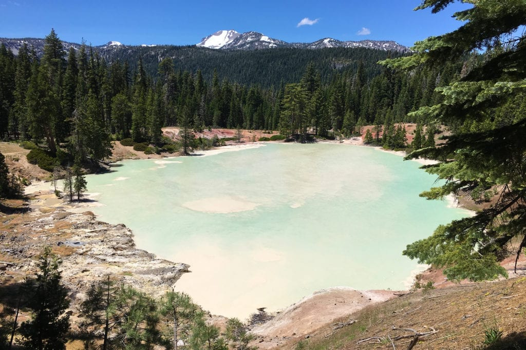 Boiling Springs Lake at Lassen Volcanic National Park