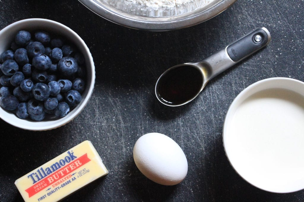 Ingredients for Amador Havest Inn's Blueberry Scones