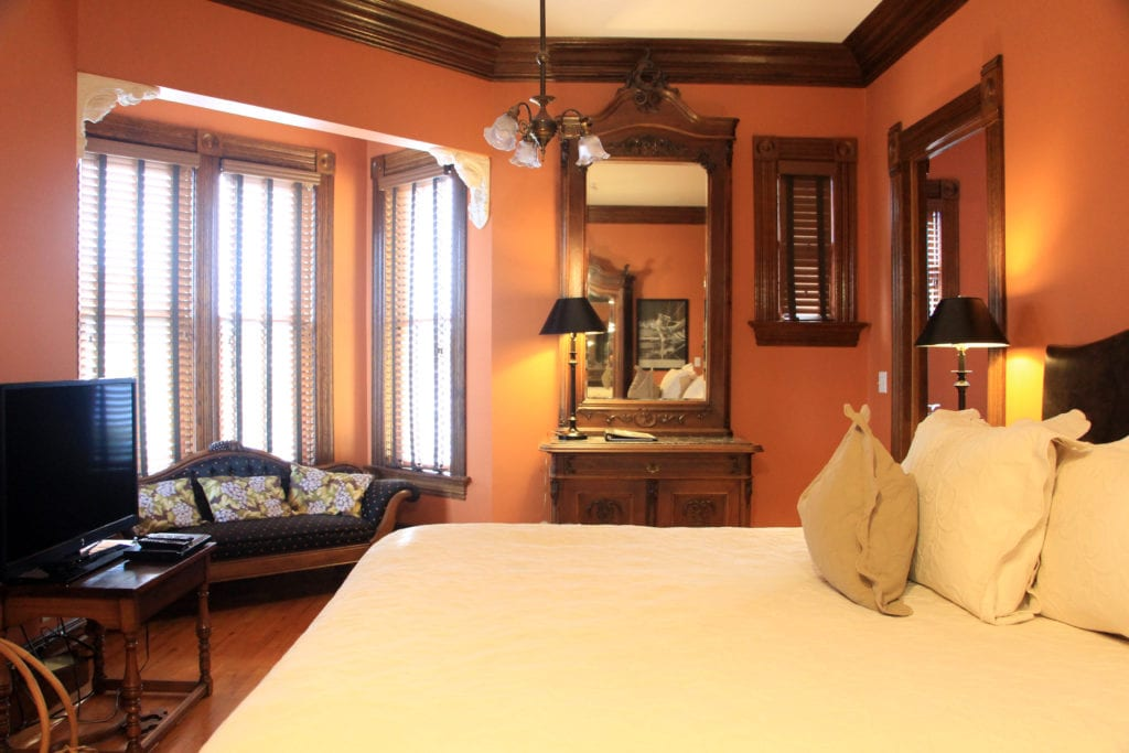 Guest room at the Carter House Inns