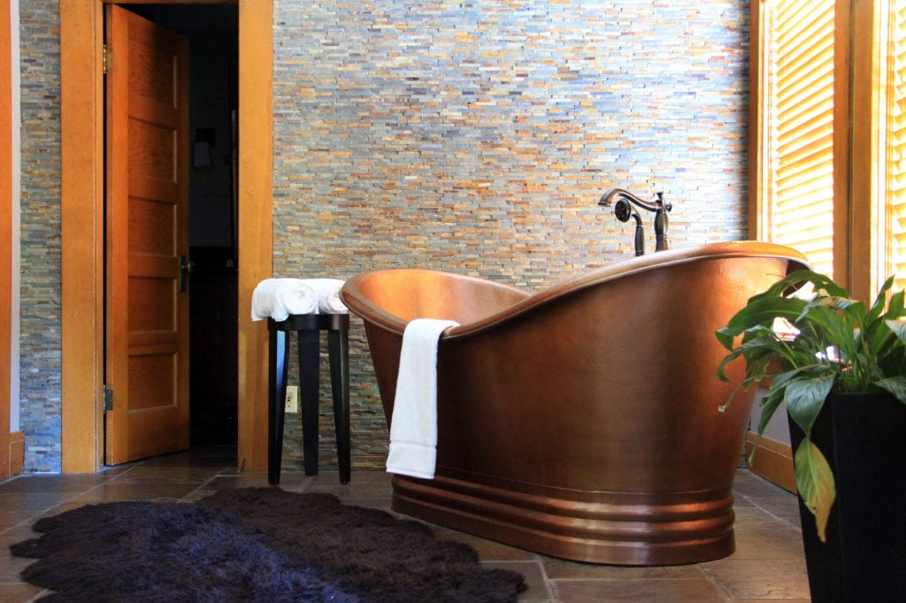 Soaking Tub in the Copper Suite at the McCloud Hotel