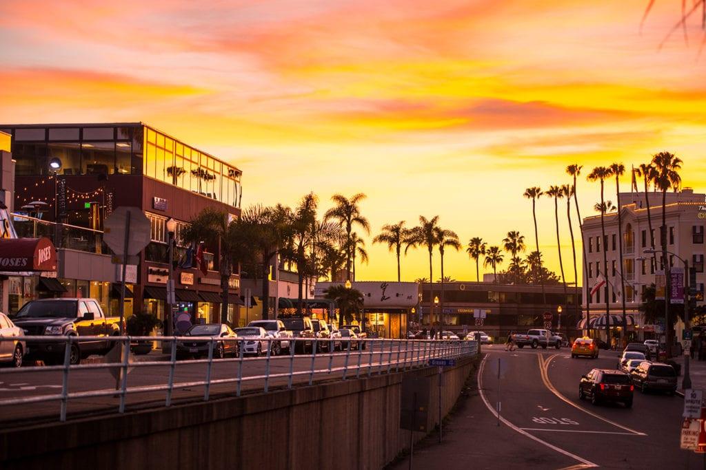 Village shops, galleries, restaurants in La Jolla