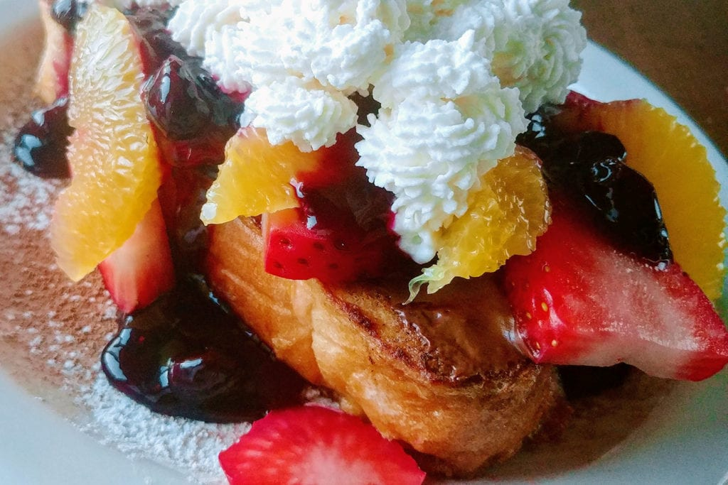 Nutella French Toast from On the Beach Bed & Breakfast