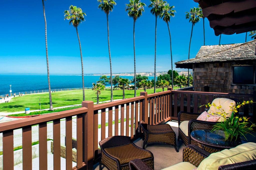 Deck view from the Pantai Inn