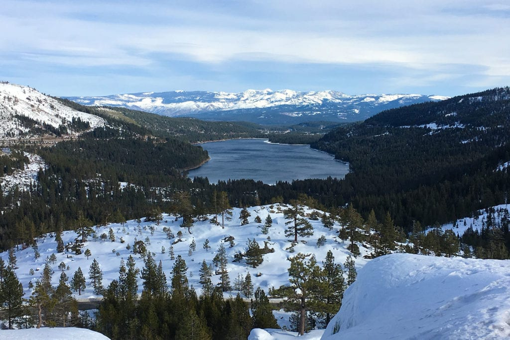 Donner Lake from view point at Donner Pass