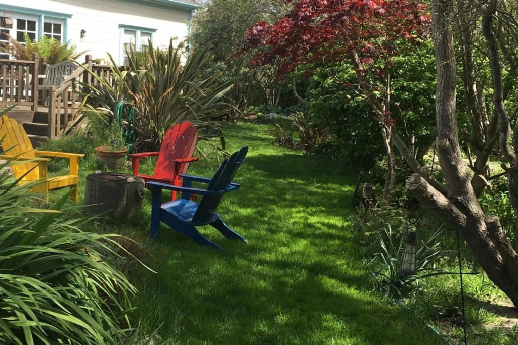 Backyard garden at the Pescadero Creek Inn