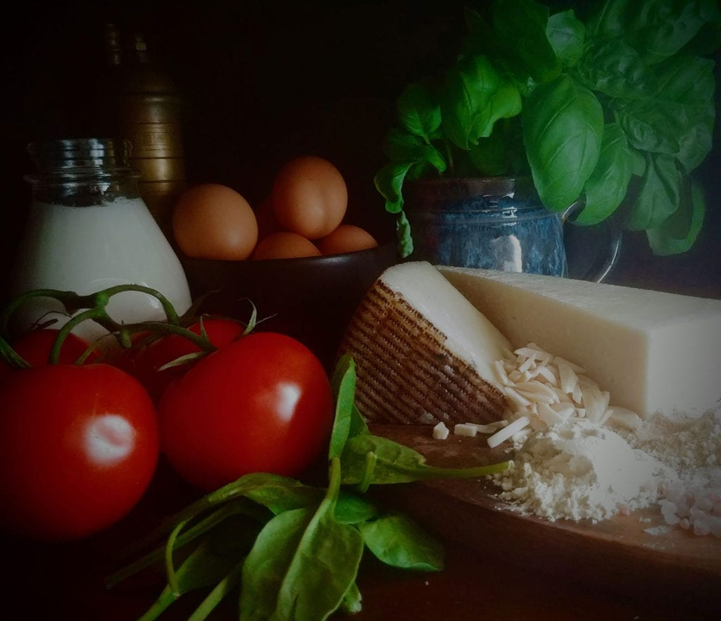 Ingredients for Eggs Gruyere