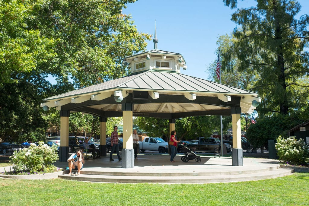 Gazebo in downtown Healdsburg