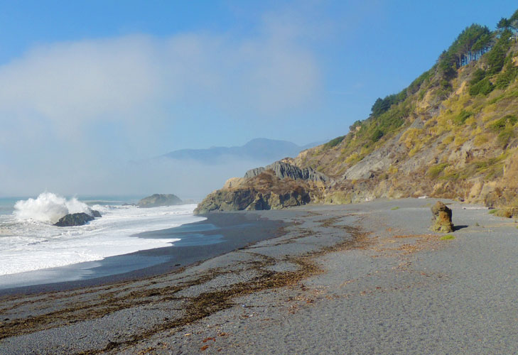 Black Sands Beach in Shelter Cove