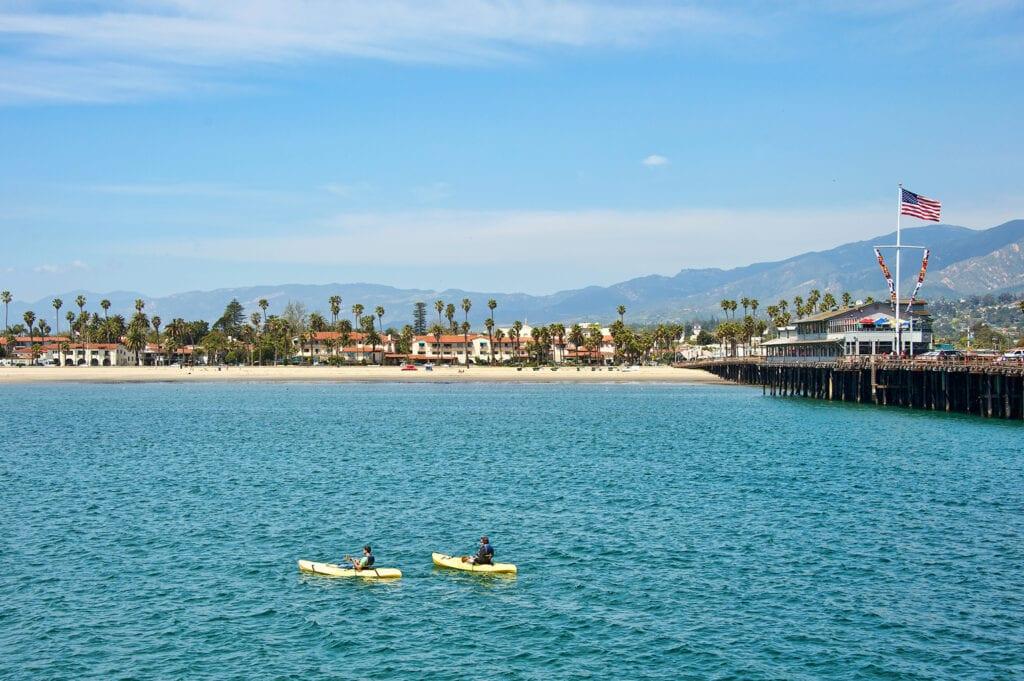 Kayaking at the Santa Barbara Harbor