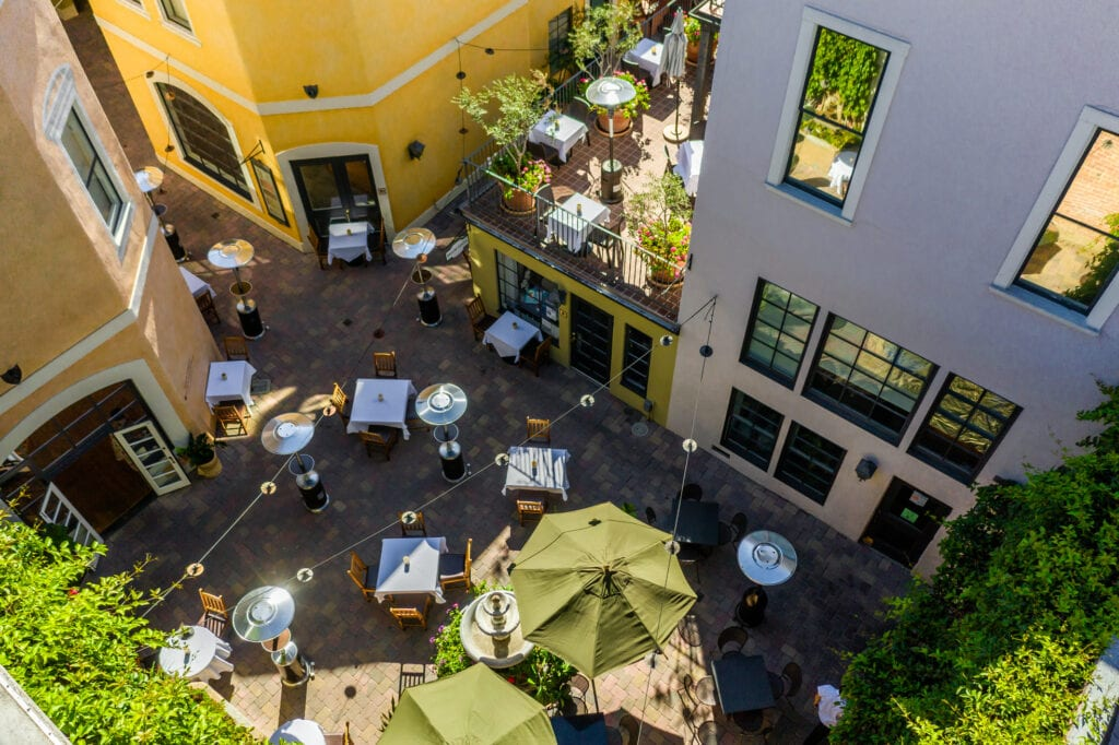 Outdoor dining at bouchon