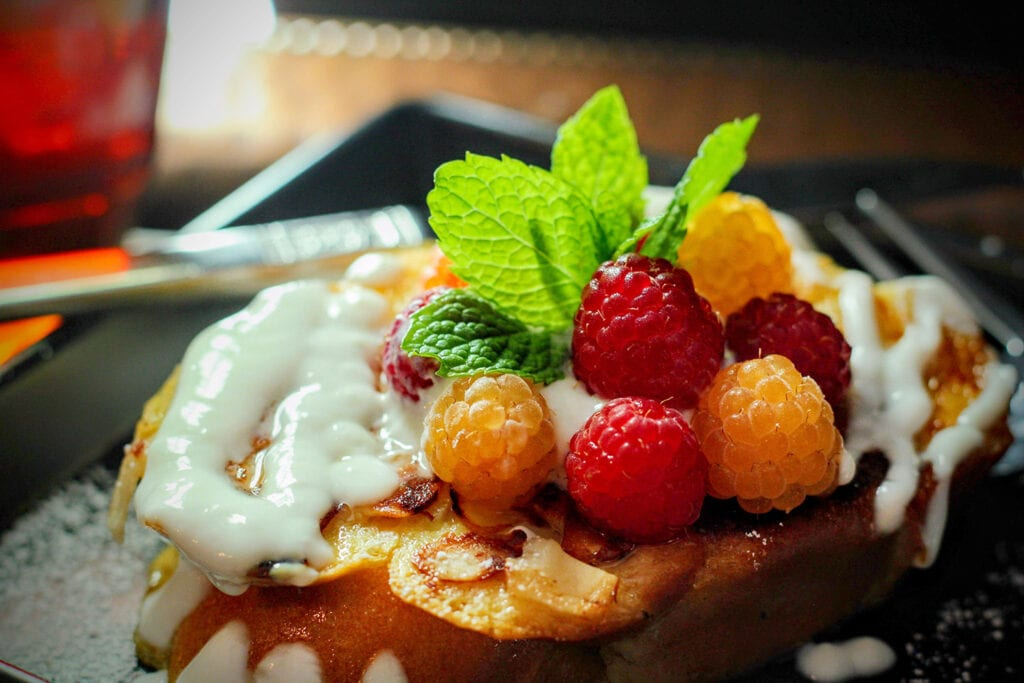 Amaretto French toast from Goodman House Bed & Breakfast