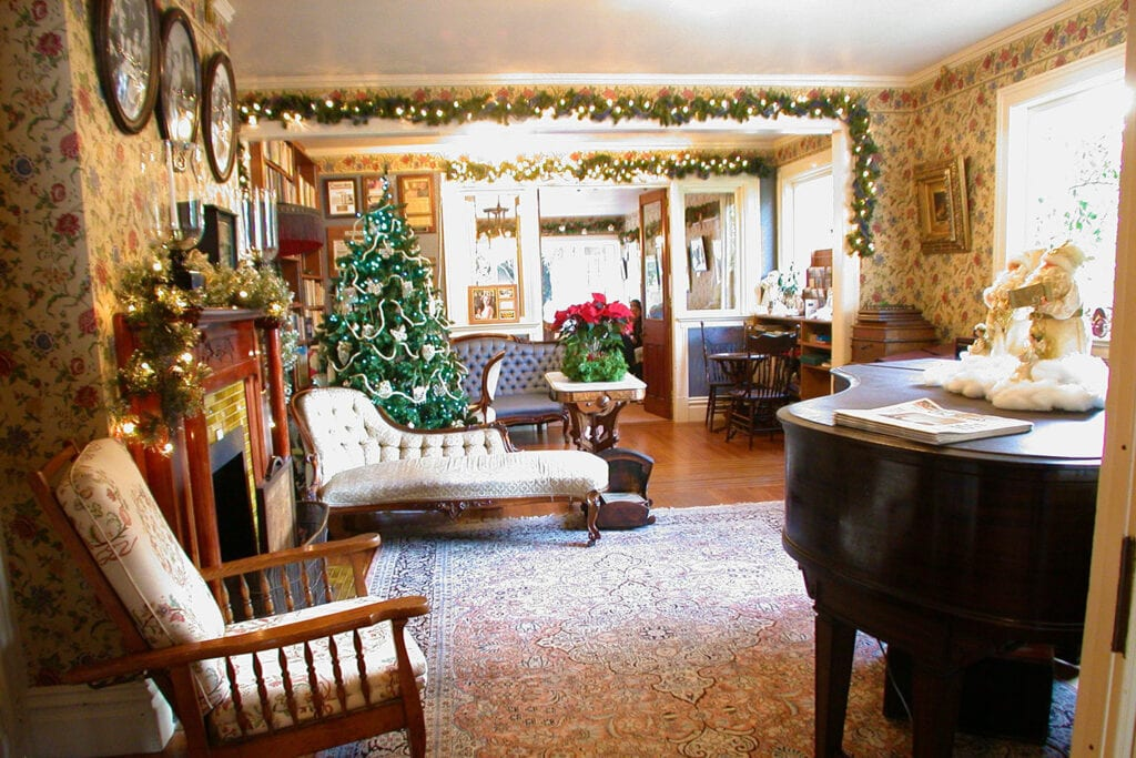 Martine Inn decorated for the holidays