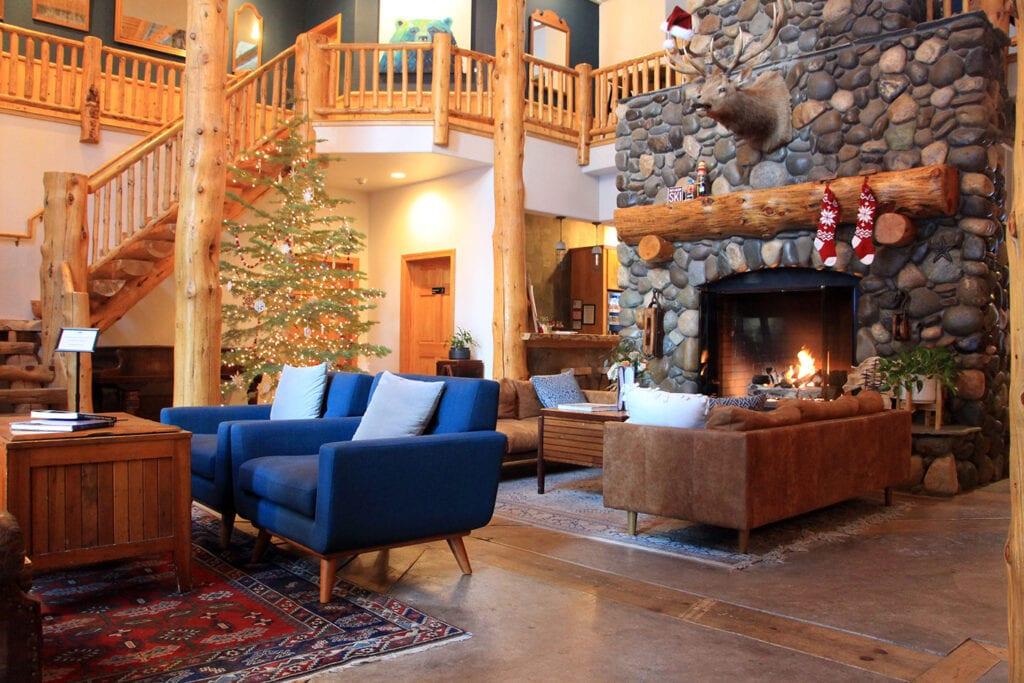 Black Bear Lodge fireplace