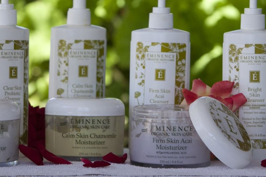 Eminence skin care products available at The Purple Orchid Wine Country Inn & Spa