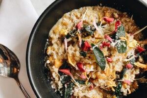 Mushroom risotto at the Granada Hotel & Bistro