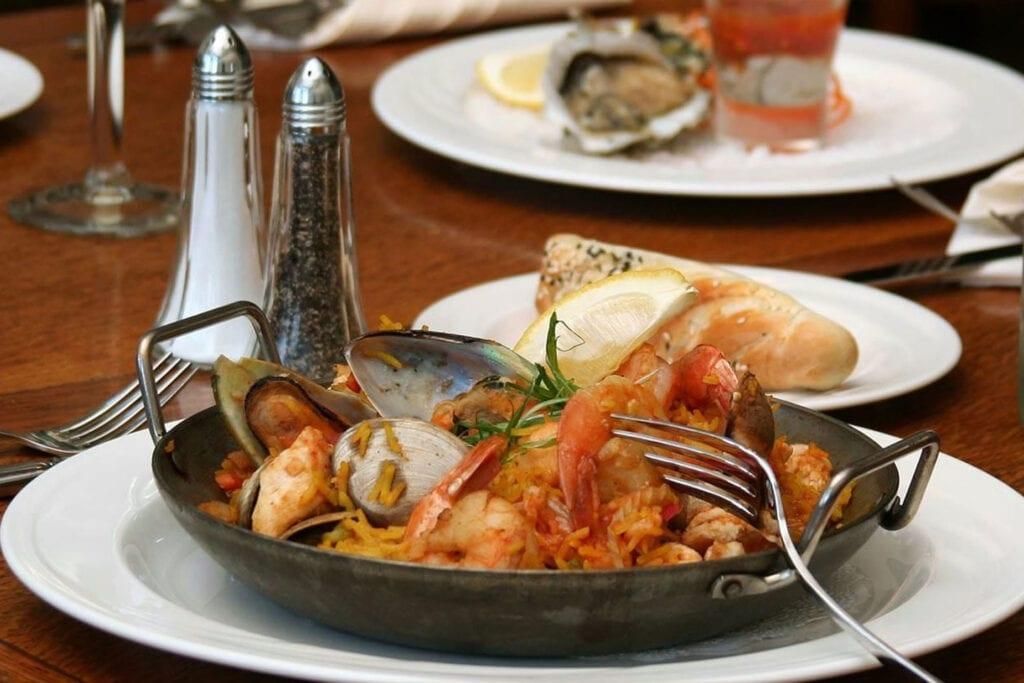 Paella Portuguese at the VI Restaurant at the Victorian Inn