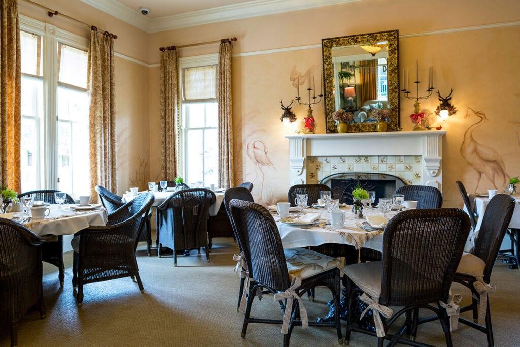 Dining room at the Tallman Hotel