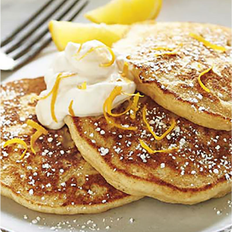 Lemon Ricotta Pancakes from the Brewery Gulch Inn