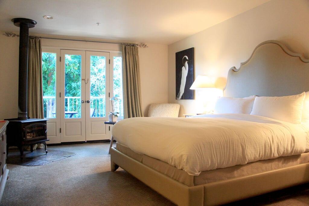 Guest room at Mill Valley Inn