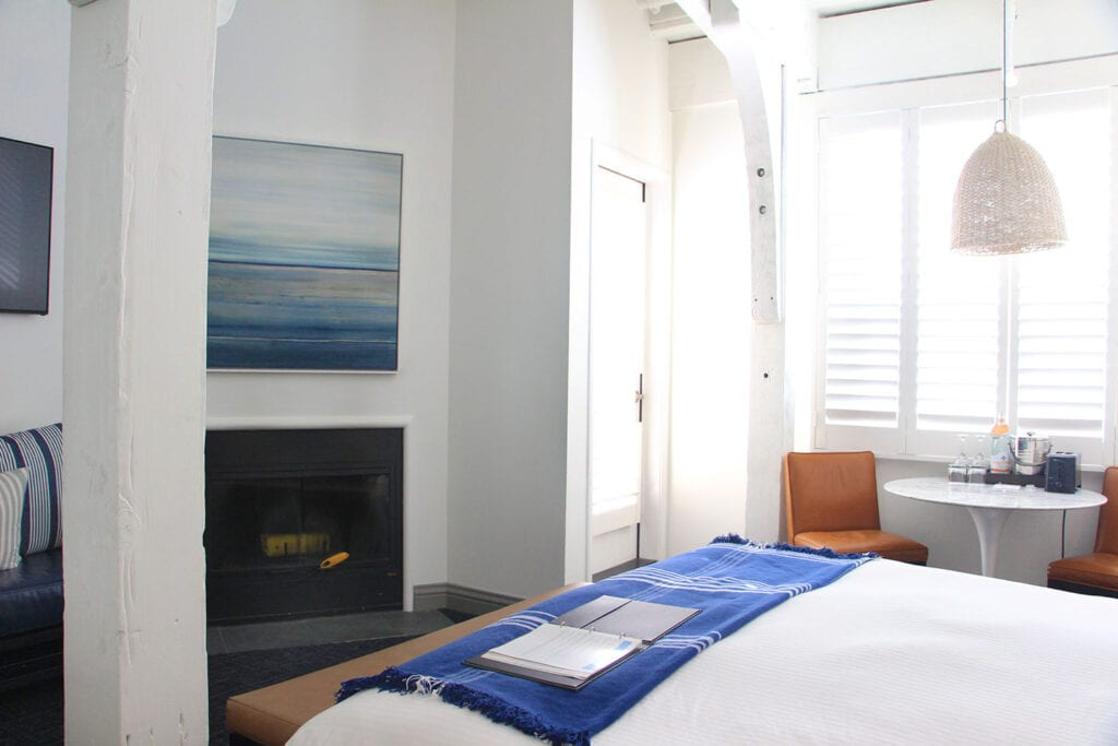 Guest room at Waters Edge Hotel