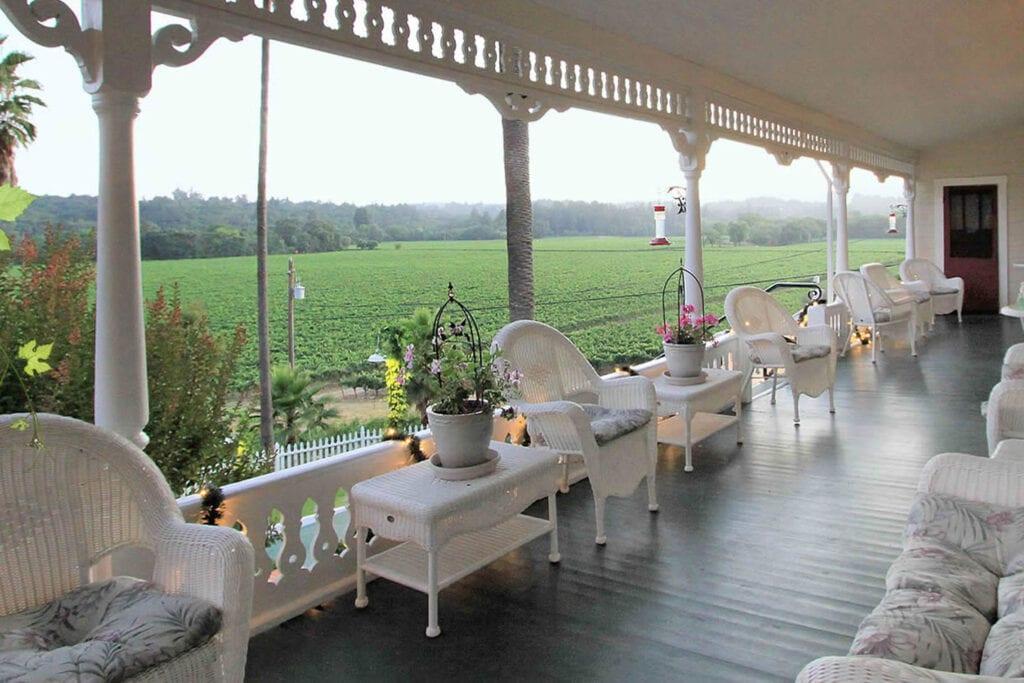 View from the veranda of the Raford Inn