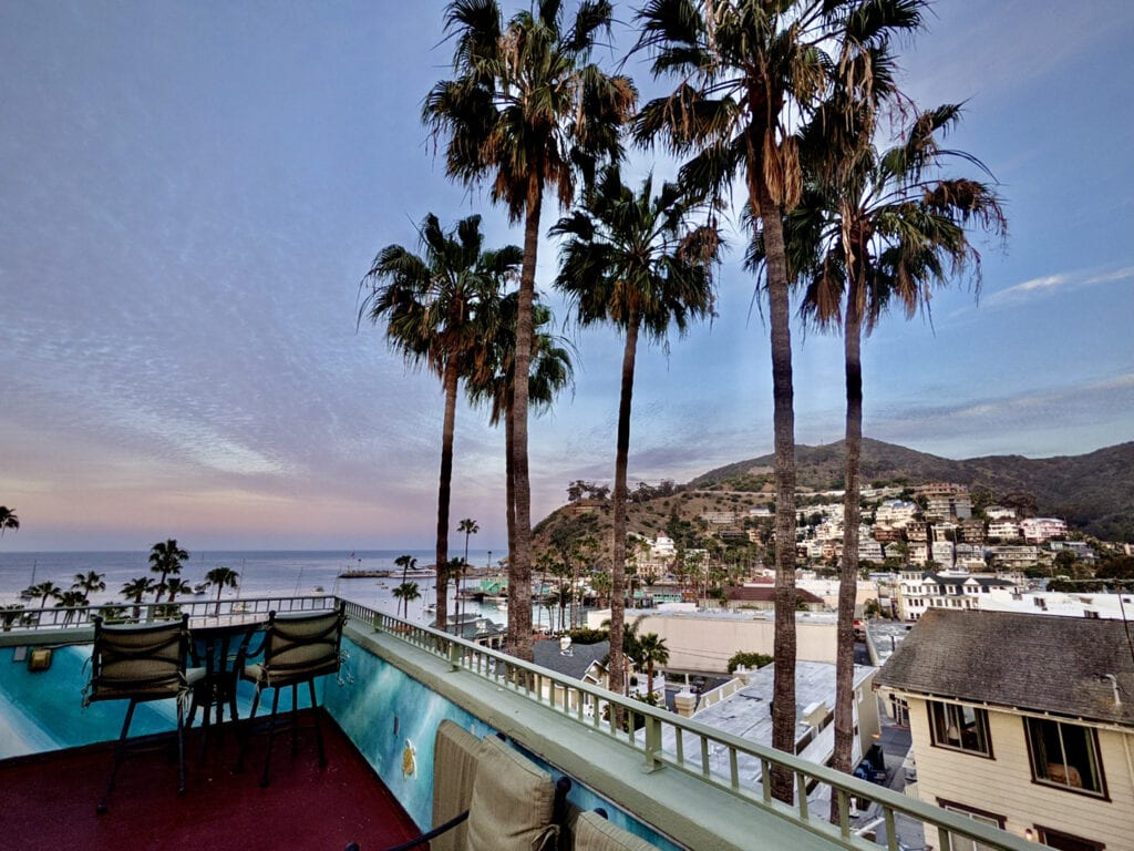 View from The Avalon Hotel rooftop patio