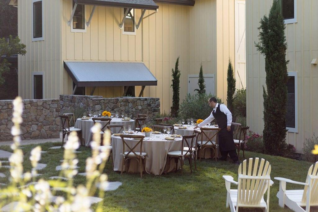 Farmhouse Inn wedding tables