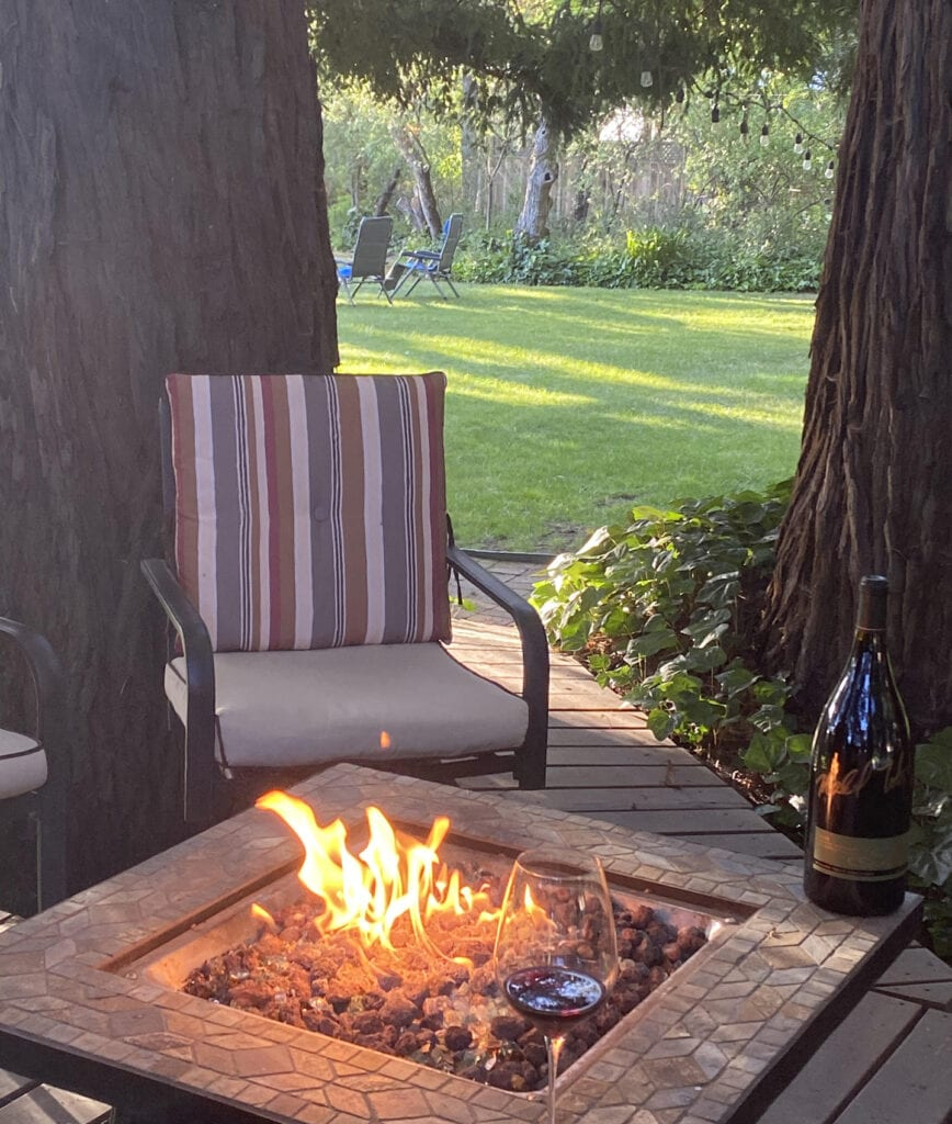 Fire pit at Gables Wine Country Inn
