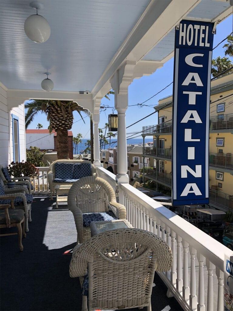 Veranda at the Hotel Catalina