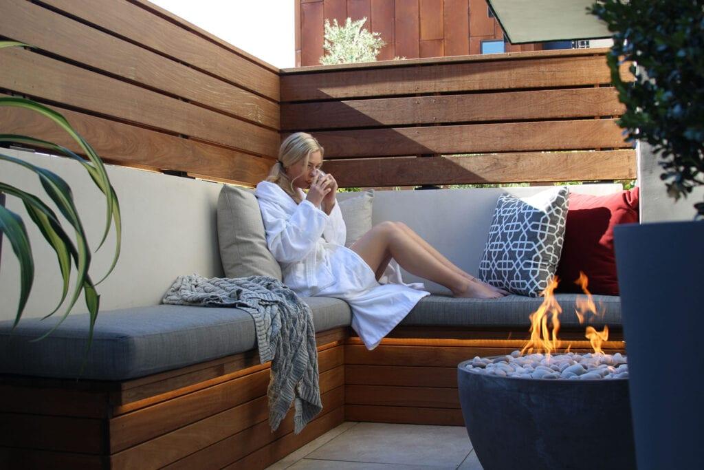 Private fire bowls at Hotel Cerro