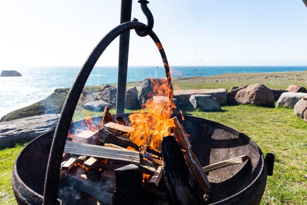 Fire pit at Inn at Newport Ranch
