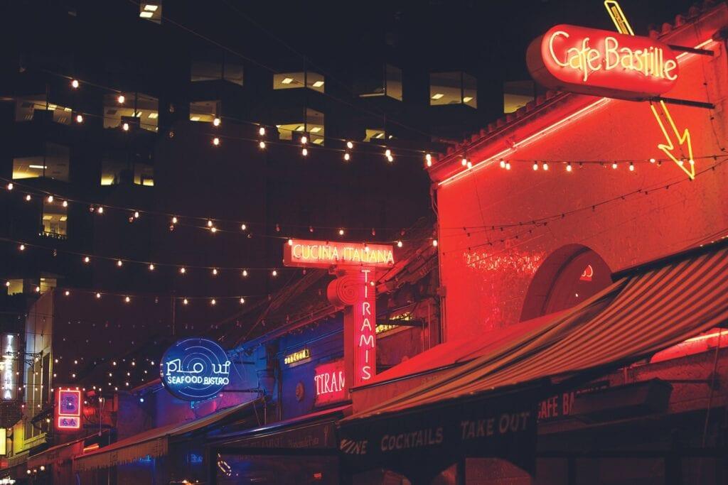 Restaurants on Belden Lane in San Francisco