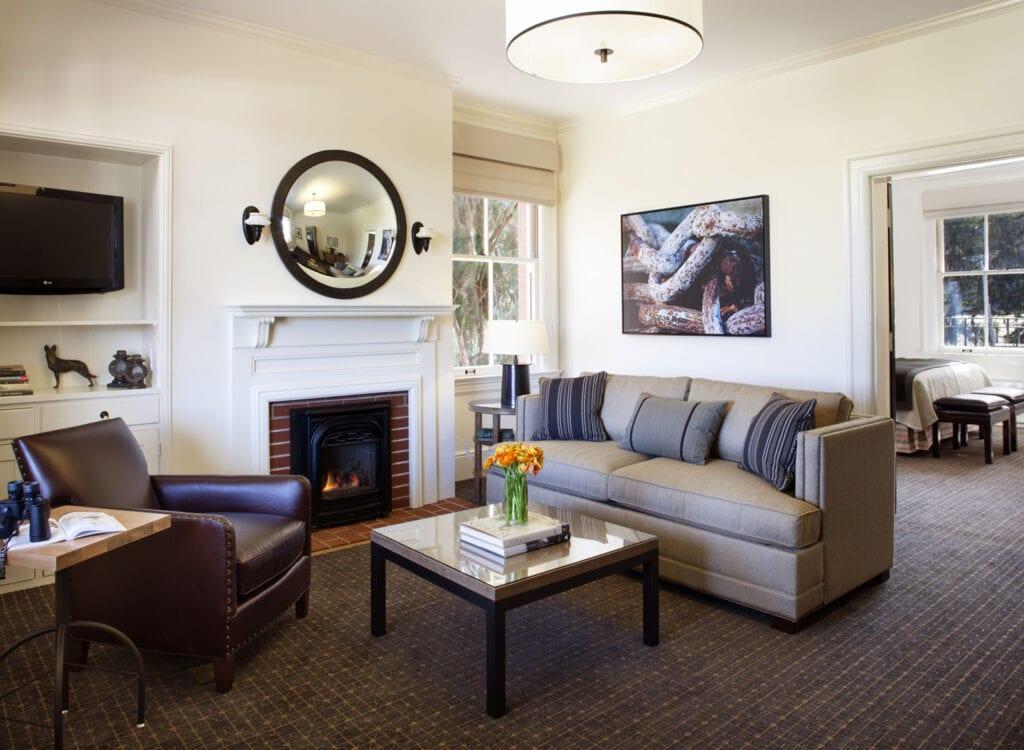 Guest room at the Inn at the Presidio