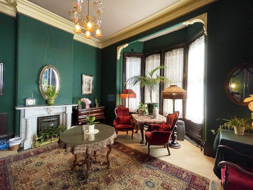 One of two parlors at Inn San Francisco