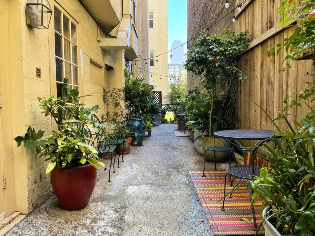 Garden Patio at Petite Auberge