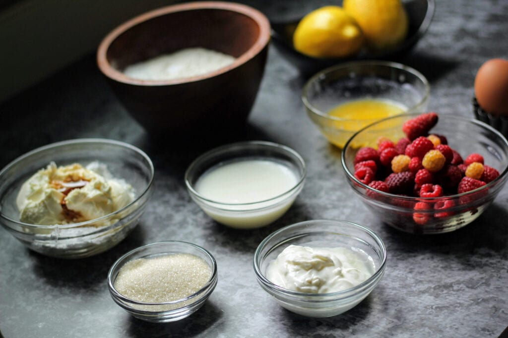 Ingredients for The Bissell House's Raspberry Pikelets with Mascarpone