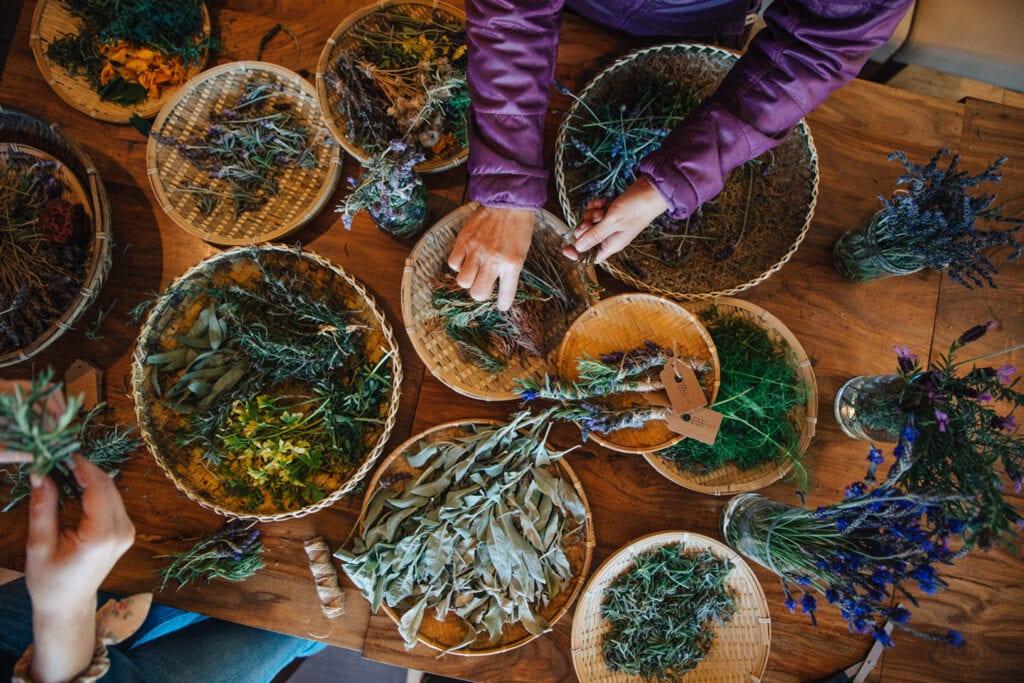 Fresh herbs from the gardens at the Inn at Moonlight Beach